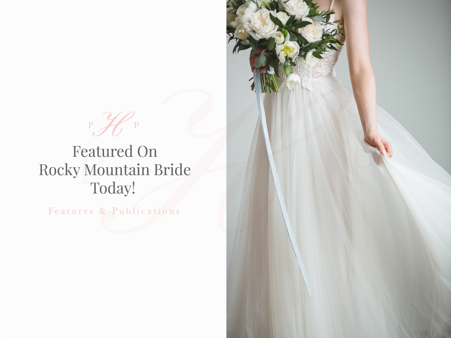 We're featured on Rocky Mountain Bride today!