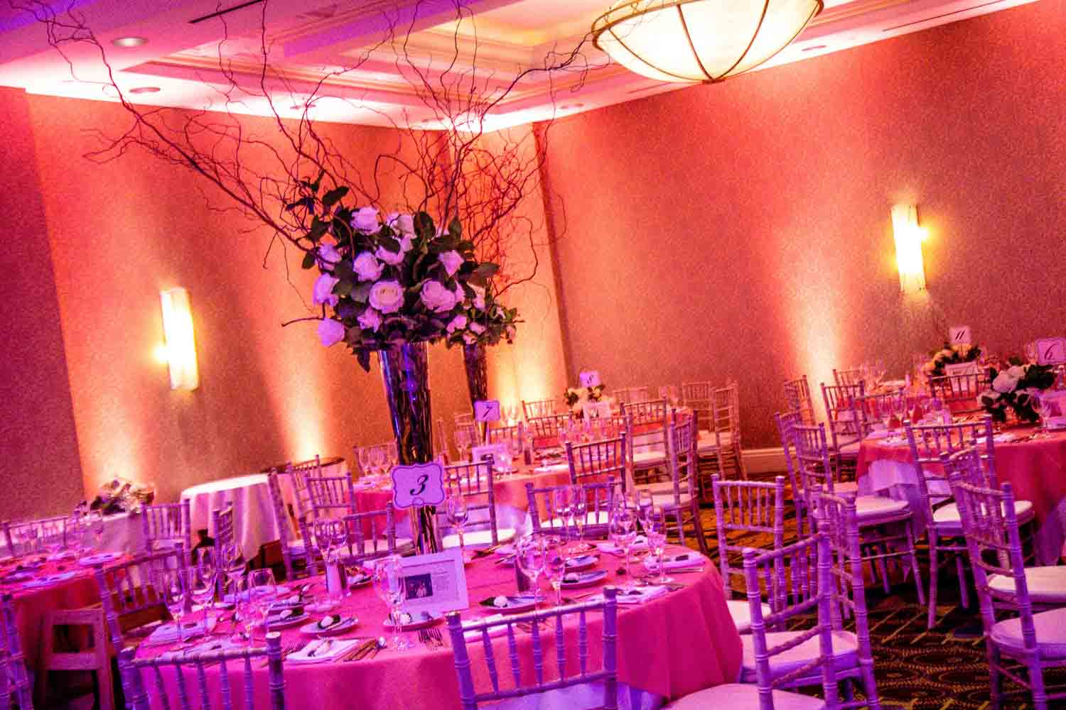 Wedding Setup with Centerpiece