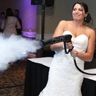 """CO2 Cannon (Cool Blasts) - Ideal for those """"over the top"""" events. When placed over a crowd the CO2 Jet is a cryogenic effect system capable of making plumes of cryo for up to 20 feet long. Imagine taking that hot, sweaty crowd down to forty degrees in six seconds and up an extra notch in excitement. Your friends will go wild in this icy cold blast."""