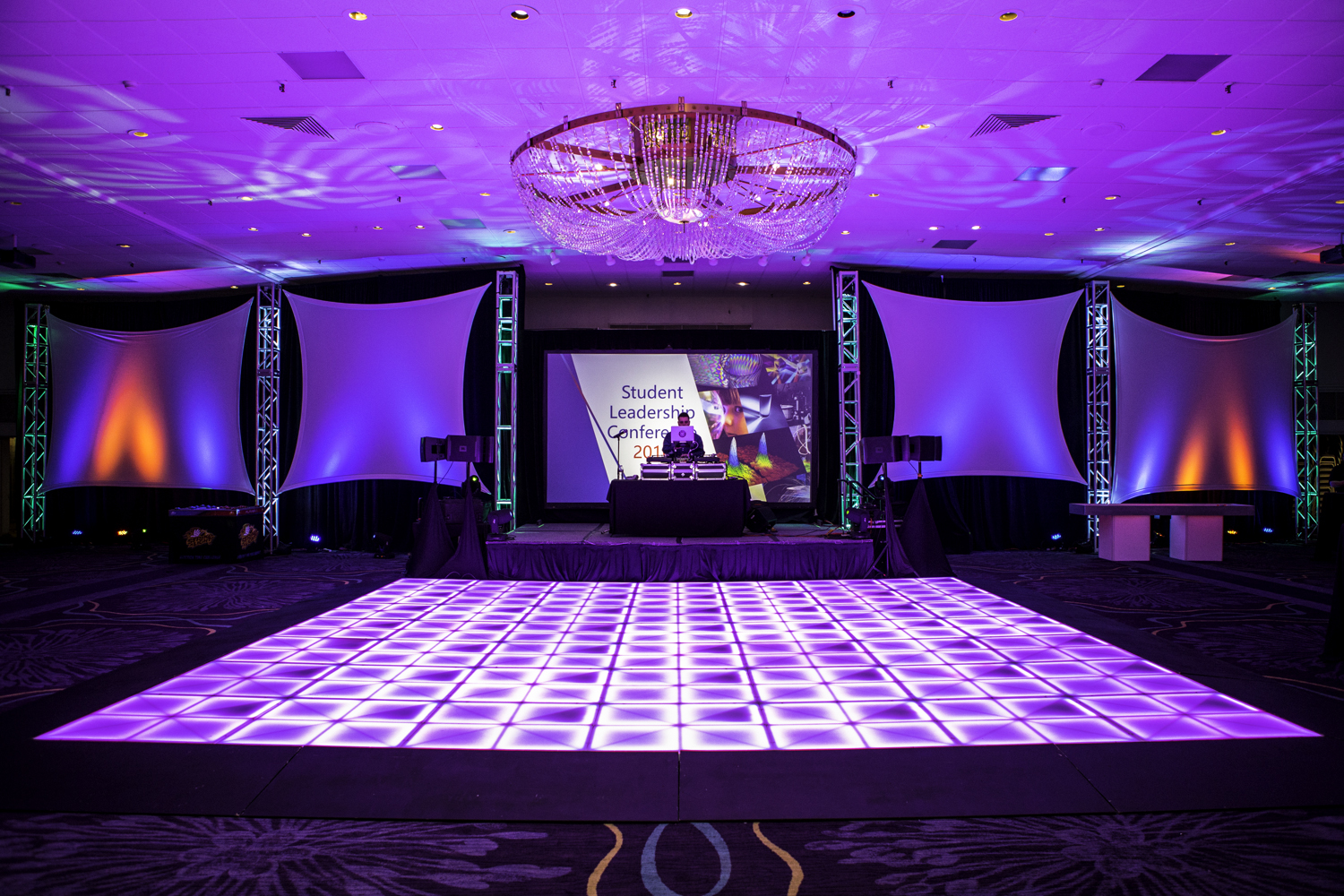 LED Dance Floor at Holiday Inn Downtown