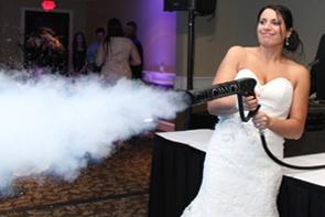 Bride shooting CO2