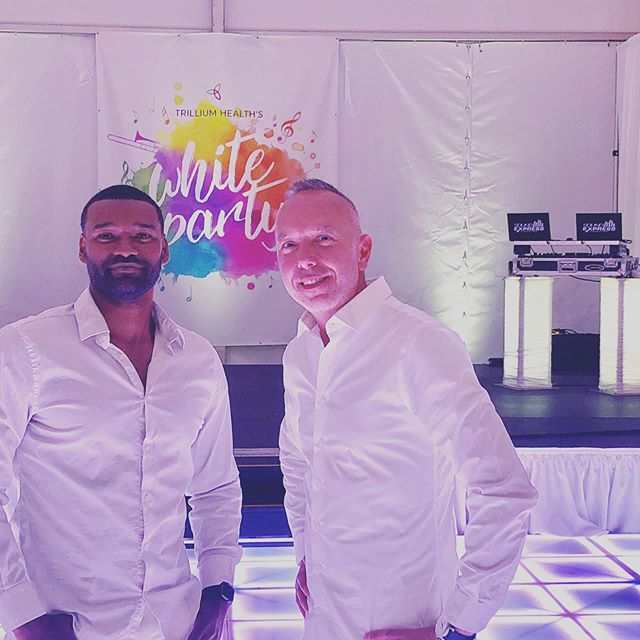 "Tonight, DJ Chandler and Dave are going to bring the house DOWN at The Jazz Festival tent at Parcel 5 downtown for the annual Trillium Health White Party! The crowd is dressed in all white and ready to ROCK Sound Express style!  #soundexpressdjs #bestdjsinrochester ""It's not WHAT we do, it's HOW we do it!"" #LEDDanceFloor #UpLighting, #BadAssDJs #DigitalPhotoBooth #EpicParties #THWhiteParty"