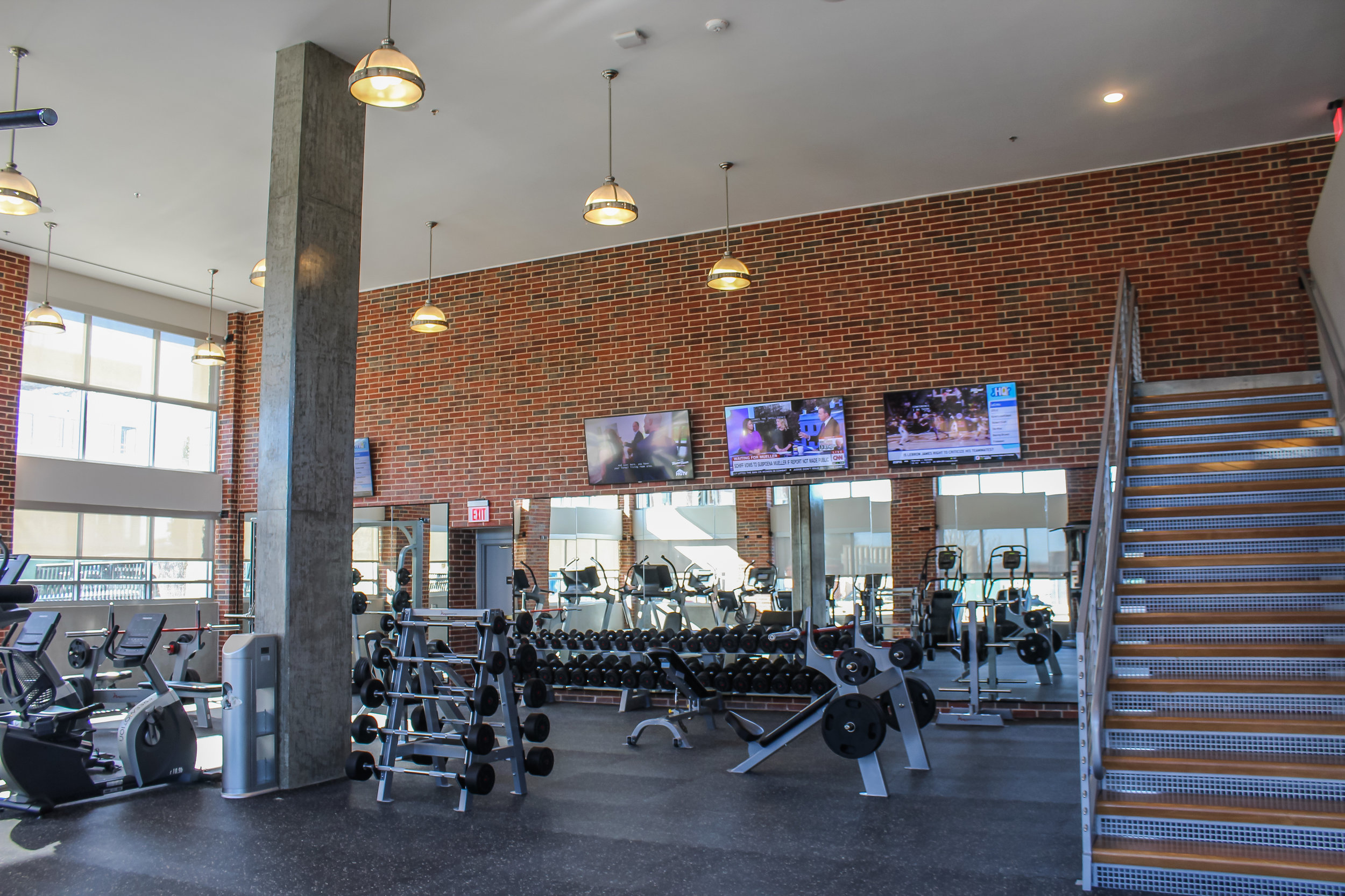 3 On-Site Fitness Centers