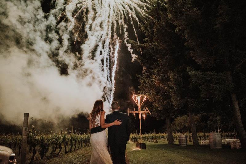 Naiara y Alejandro, una boda entre viñedos