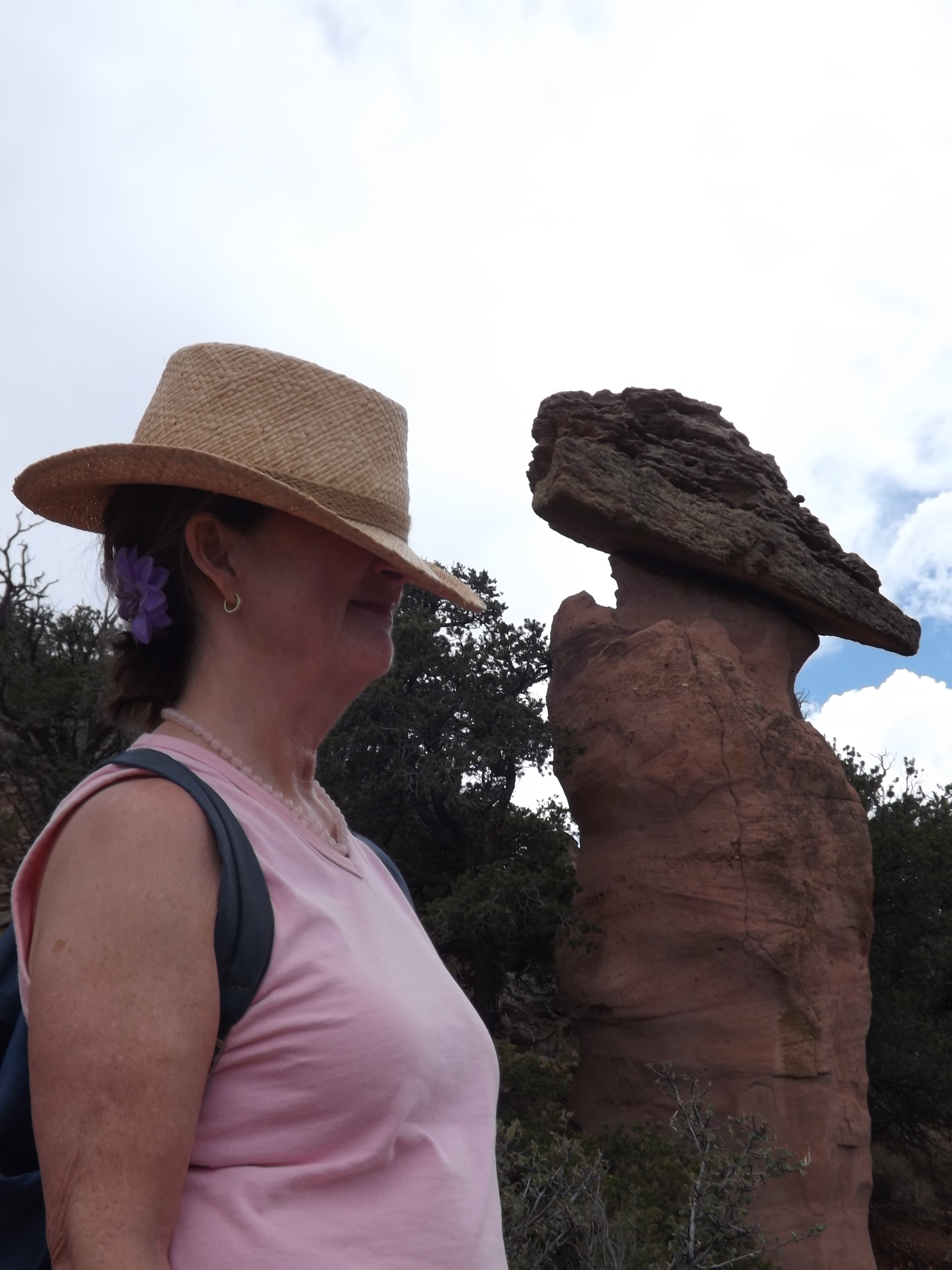"""Red Rock in Gallup - beautiful! I was just beginning to recognize """"I don't gotta do nothin"""" in my life - I had been living in a pretty highly pressured way and was learning that I don't have to be that way. It's one of many aspects of life lessons that I enjoy sharing with my clients."""