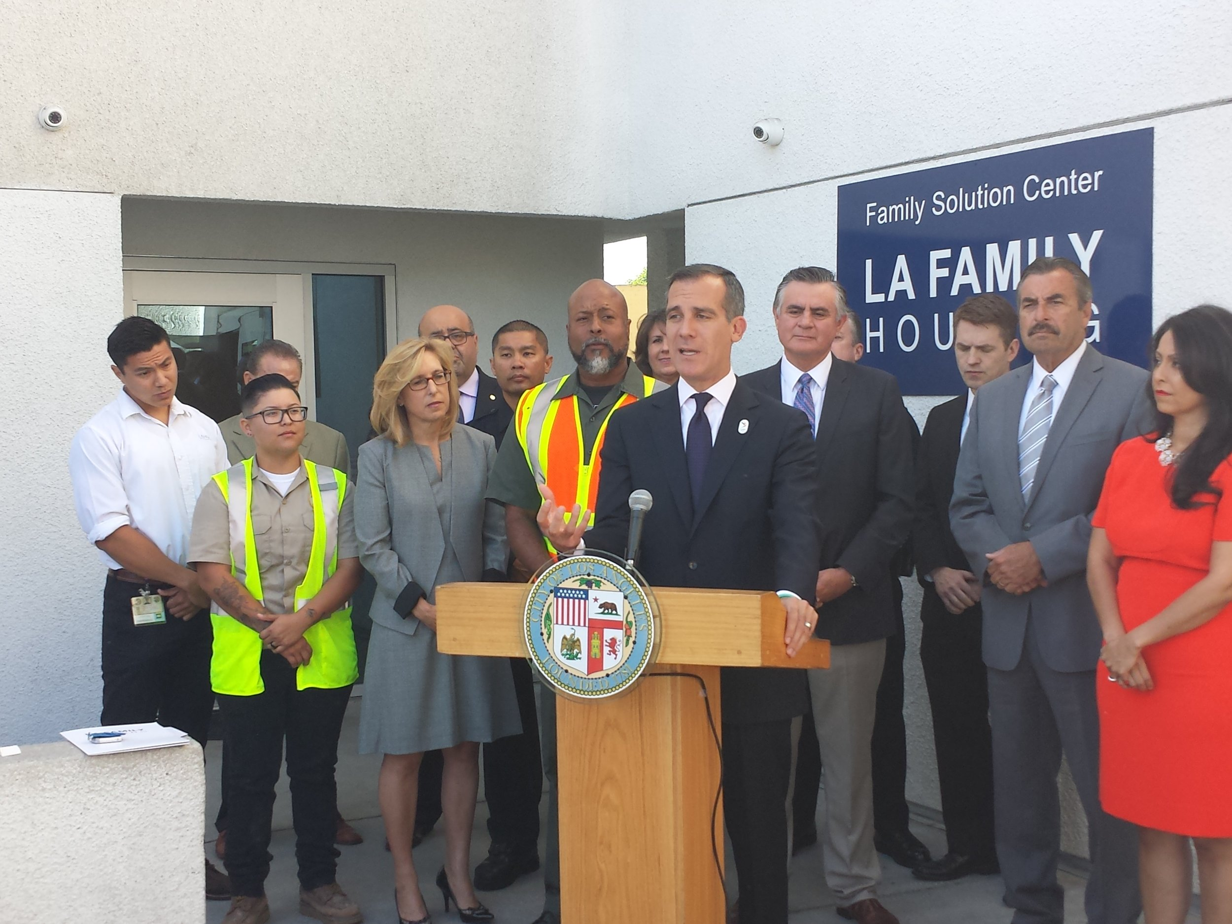 """Los Angeles is taking an all-hands-on-deck approach to solving our homelessness crisis. The HOPE initiative is an innovative and powerful example of how we are serving residents by working collaboratively with City and County departments,"" said Mayor Garcetti. ""Our first responders — whether they are police officers or outreach workers — interact directly with L.A.'s homeless population on a daily basis. HOPE serves as a homelessness 'super team.' Our teams are sharing data to better target their outreach to homeless Angelenos — and coordinated community cleanups — to ensure the health and safety of our neighborhoods, while getting our most vulnerable the help they need."""