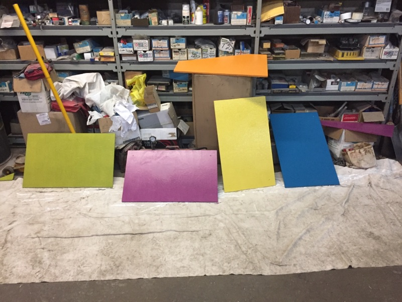 Colourful Panels for Front of Playhouse