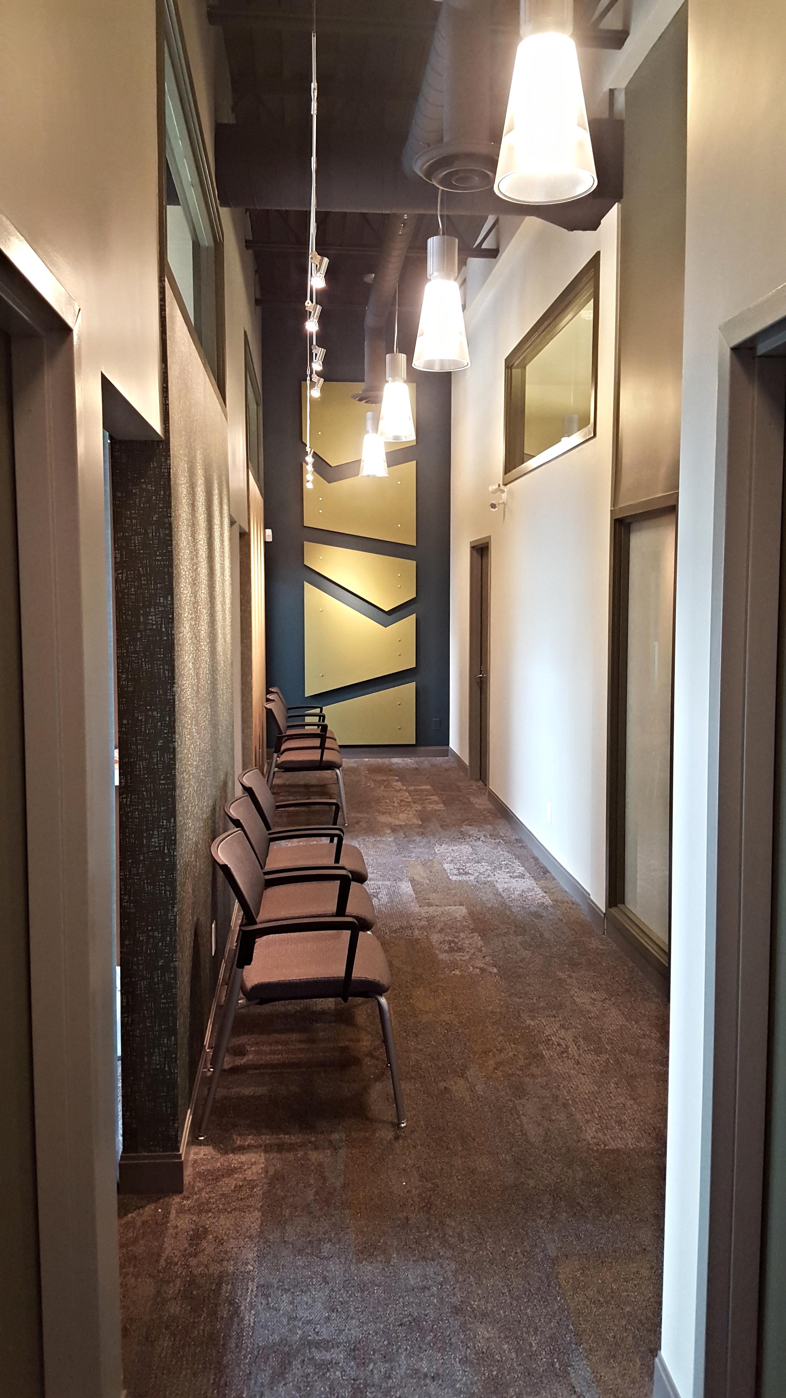 Corridor to exam rooms