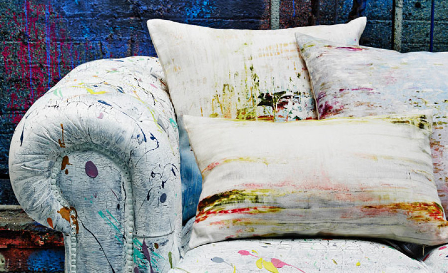 Toss cushions designed by Jessica Zoob for Black Edition. Available thru Everitt Design.
