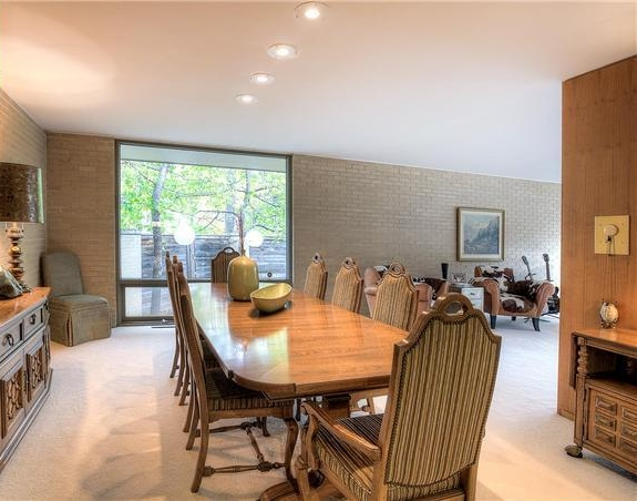 Realtor photo of dining room before purchasing the house and starting renovations.