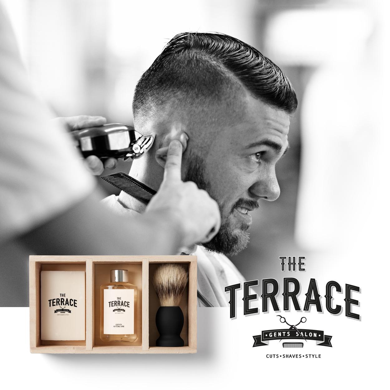 The Terrace branding by king orange design