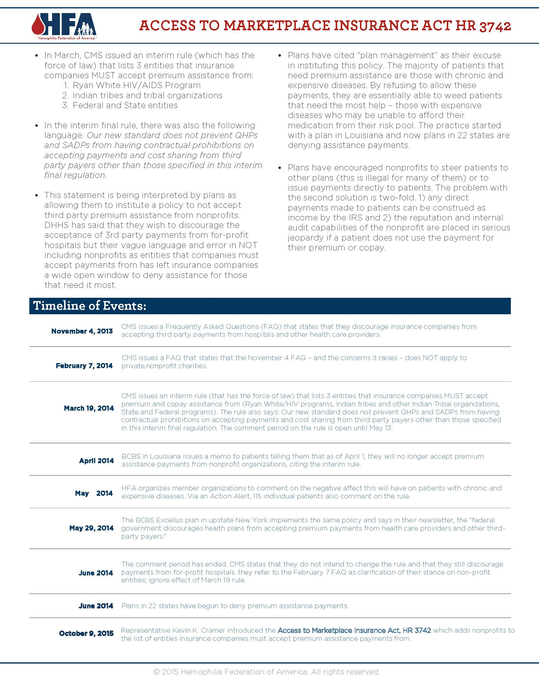 HFA one-pager