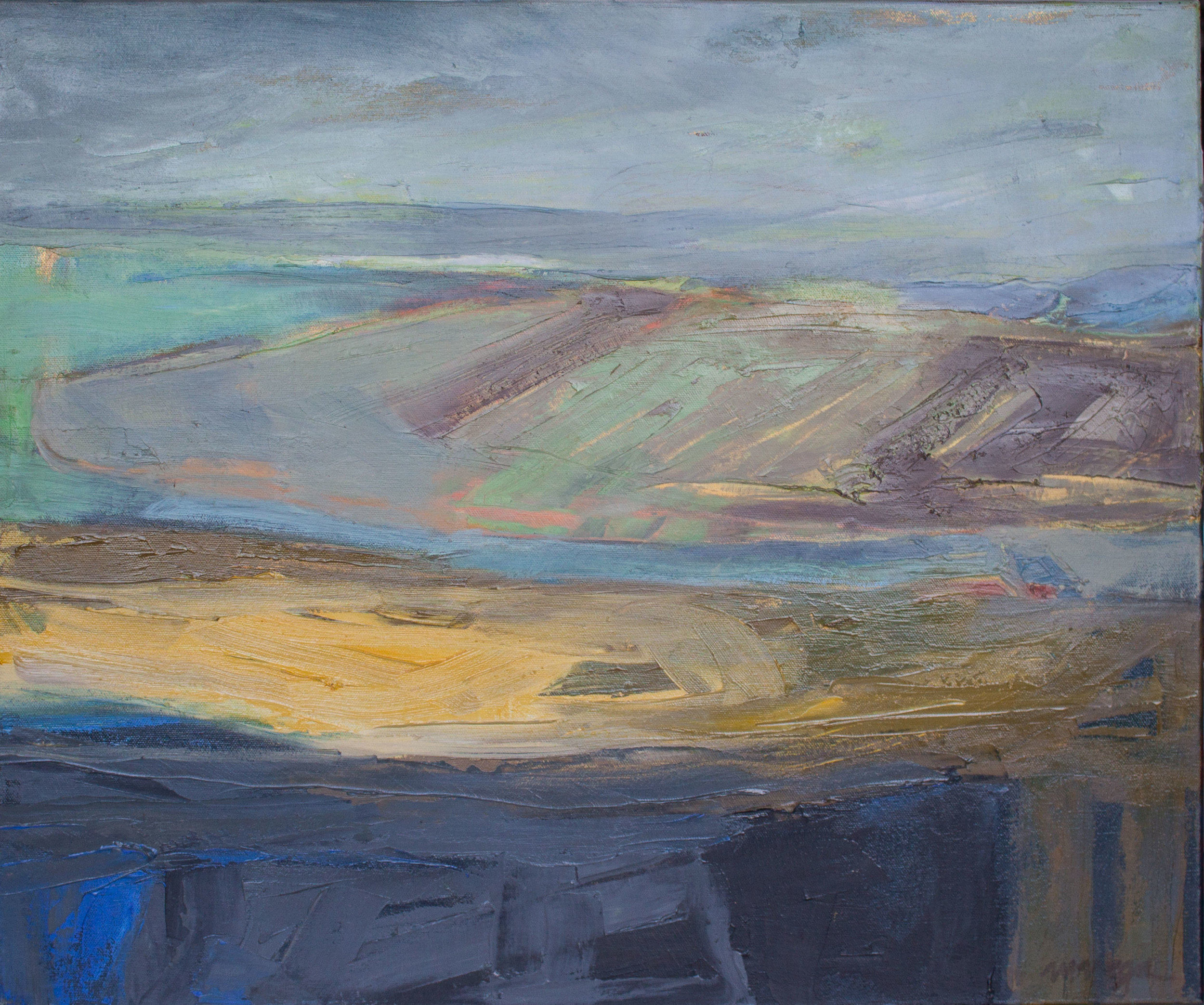 """ Landscape with Architectural Elements,"" Margaret Vega"