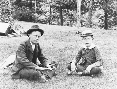 John D. Rockefeller, Jr., circa 1880, with his sole childhood friend, Harry Moore, son of the Forest Hill housekeeper. (Courtesy of the Rockefeller Archive Center)