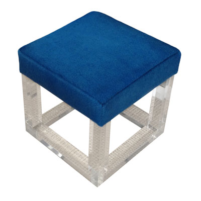 LUCITE AND PONY STOOL