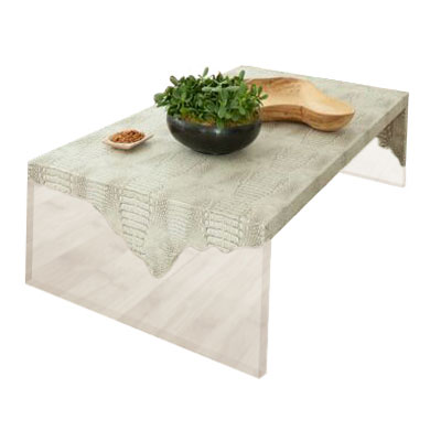 LUCITE RAW EDGE CROC PRINTED COFFEE TABLE