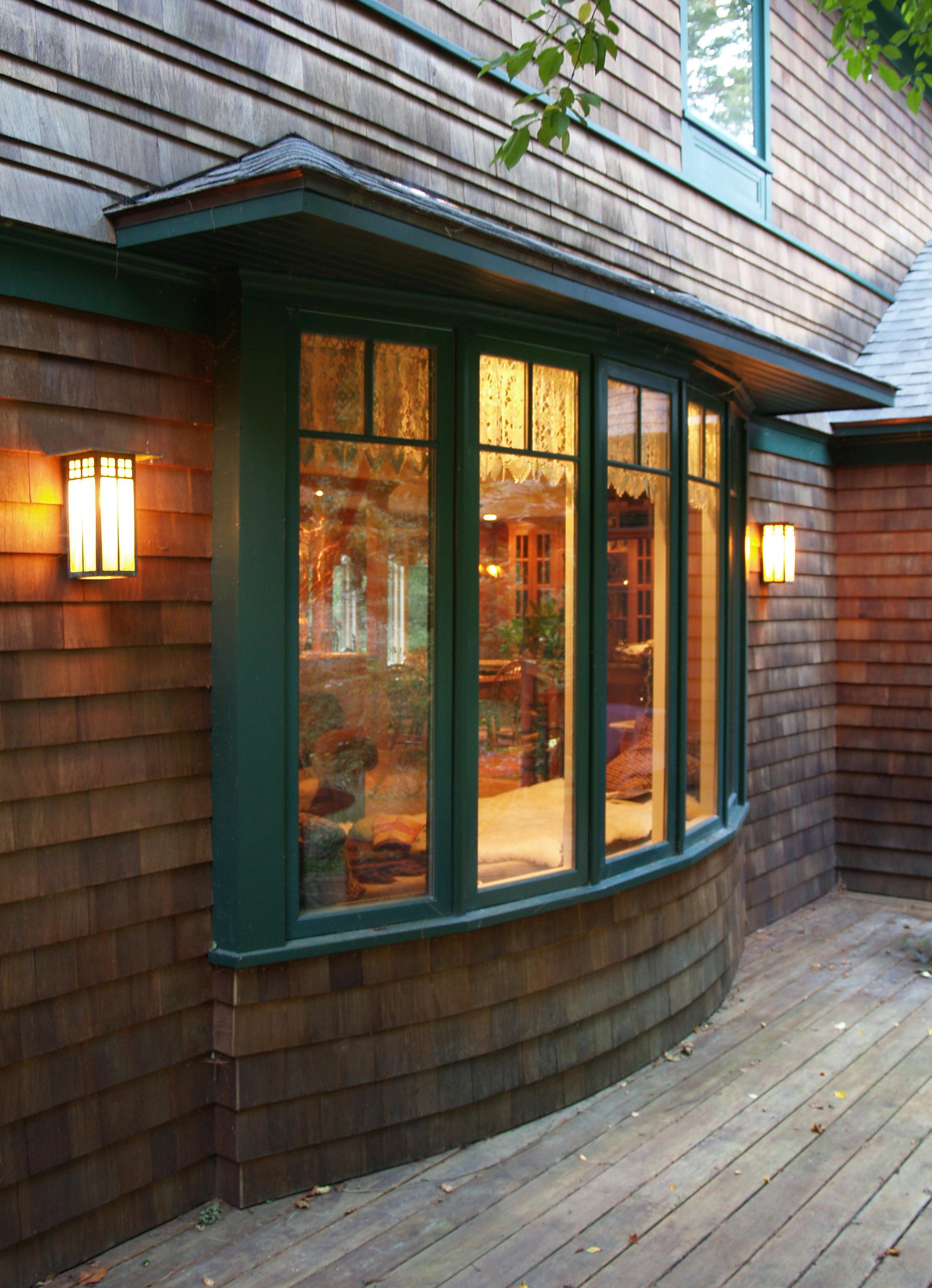 Warm light at bay window