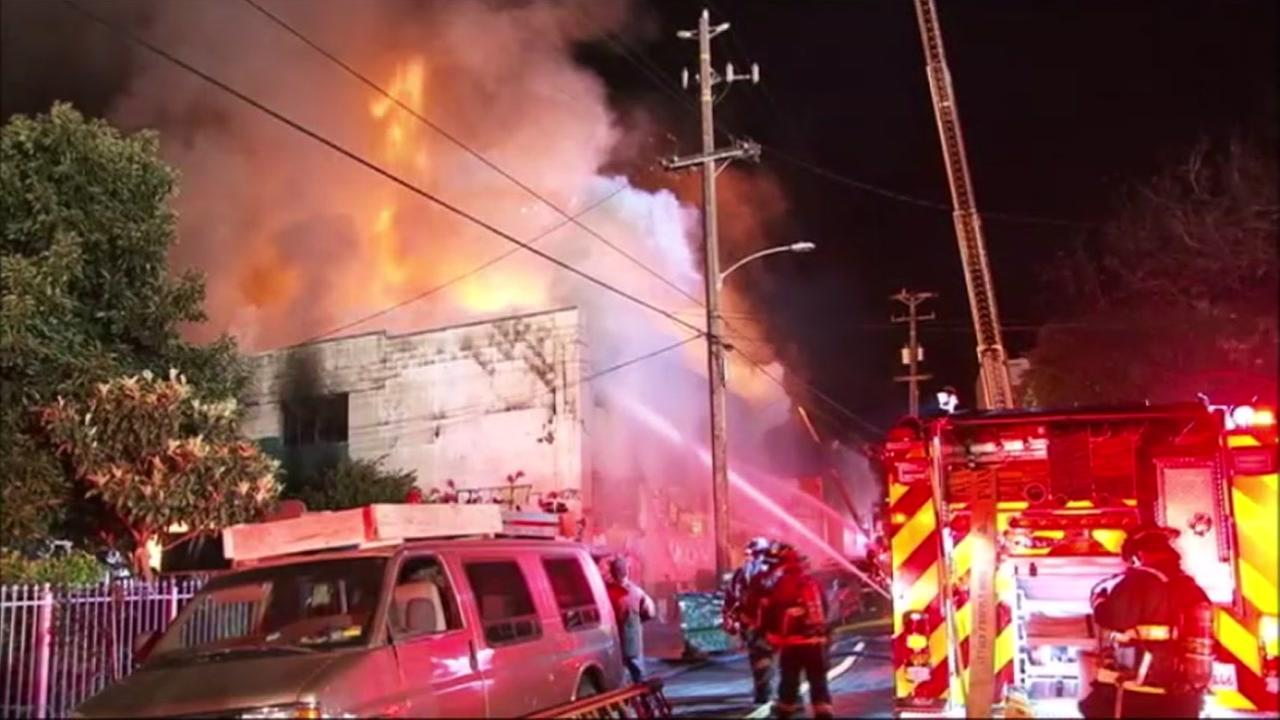 Ghost Ship warehouse fire in Oakland, California