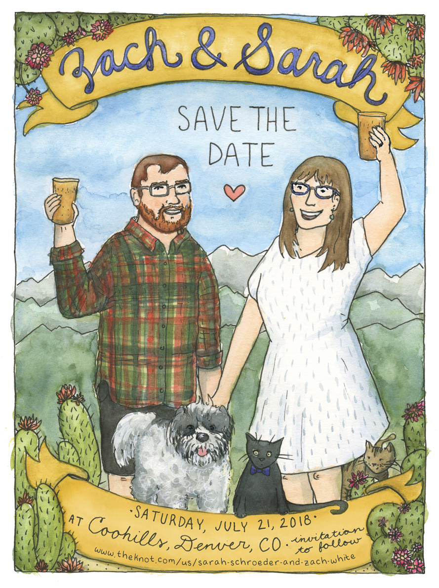 custom save the date, 2018