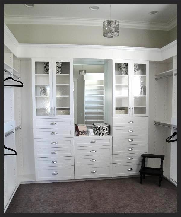 White Floor Mount Closet