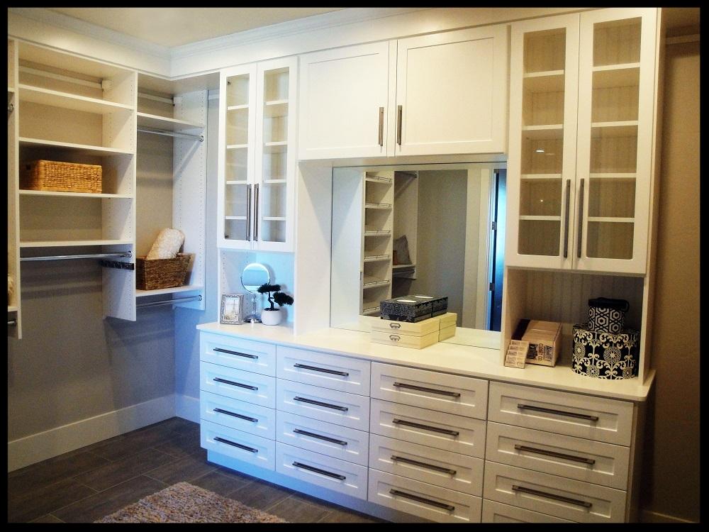White Closet with Glass