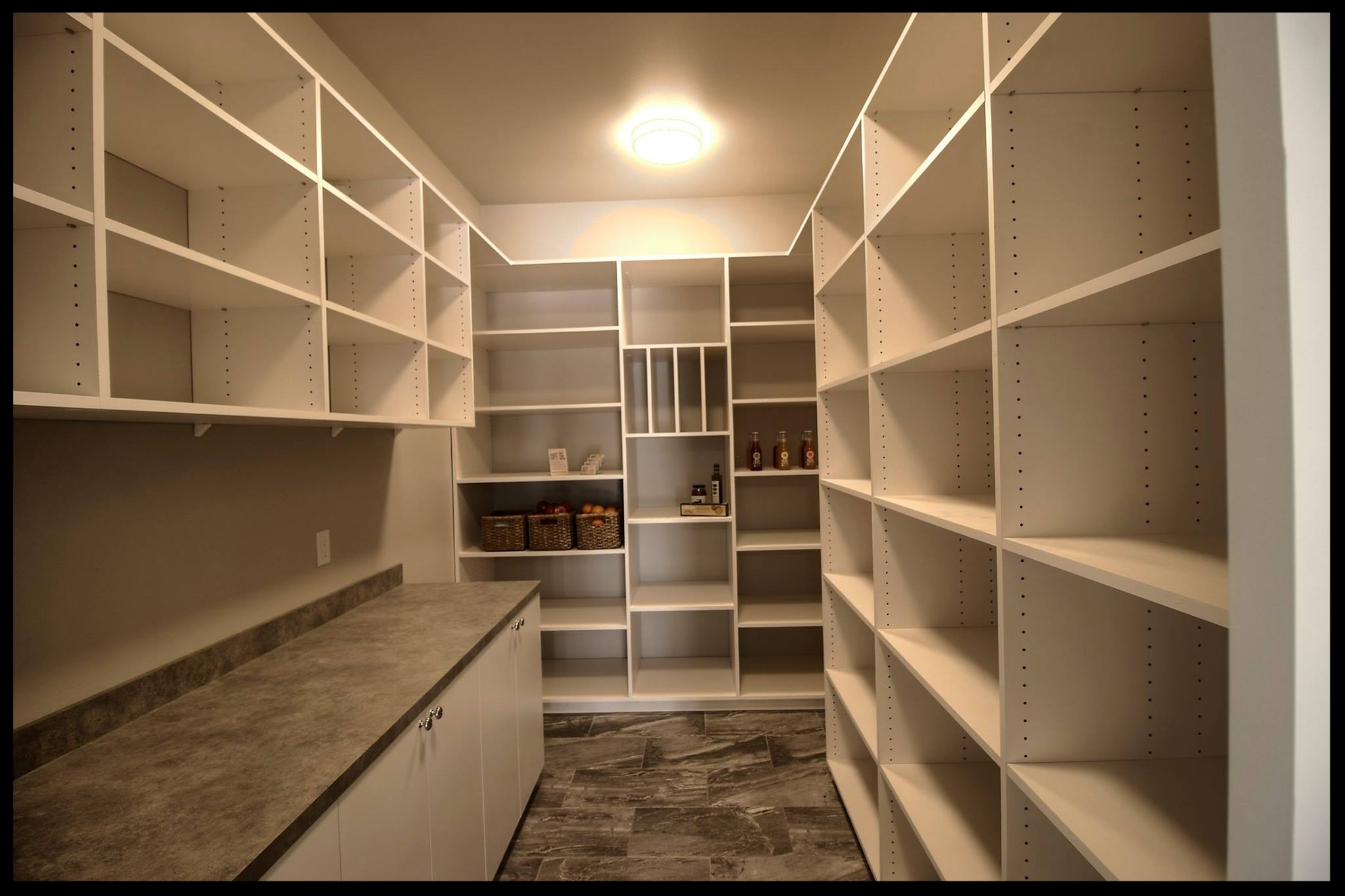 White Pantry with Counter