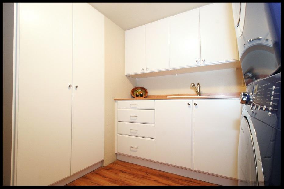 White Laundry Cabinets