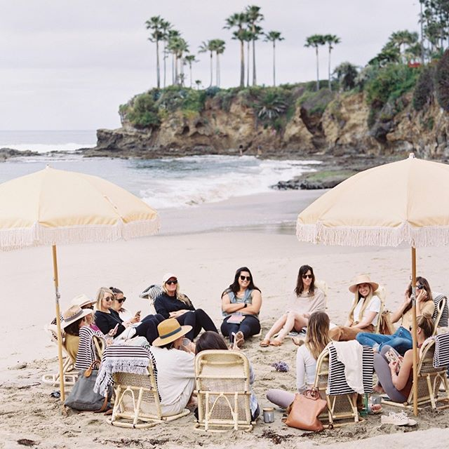 Missing this group of women so much. This powerful manifestation session hosted by @jessiedelowe was such a highlight of the retreat. I feel so grateful for this hour spent on the beach with these beautiful humans.... it was so life giving.  Photo via @ashleysawtelle  #nourishtheretreat #wellnessretreat #selfcare #creativeretreat #manifestation #lagunabeach