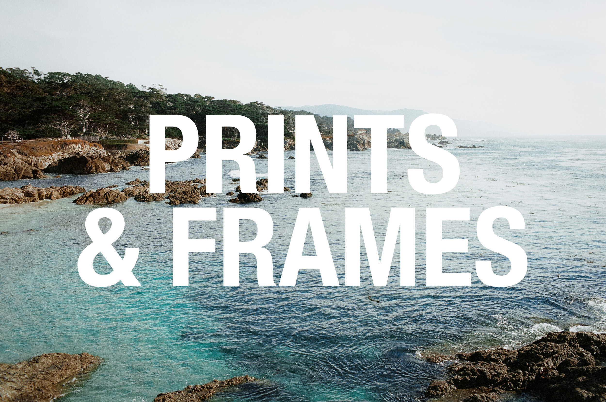 Fun prints + frames to decorate your home or office.