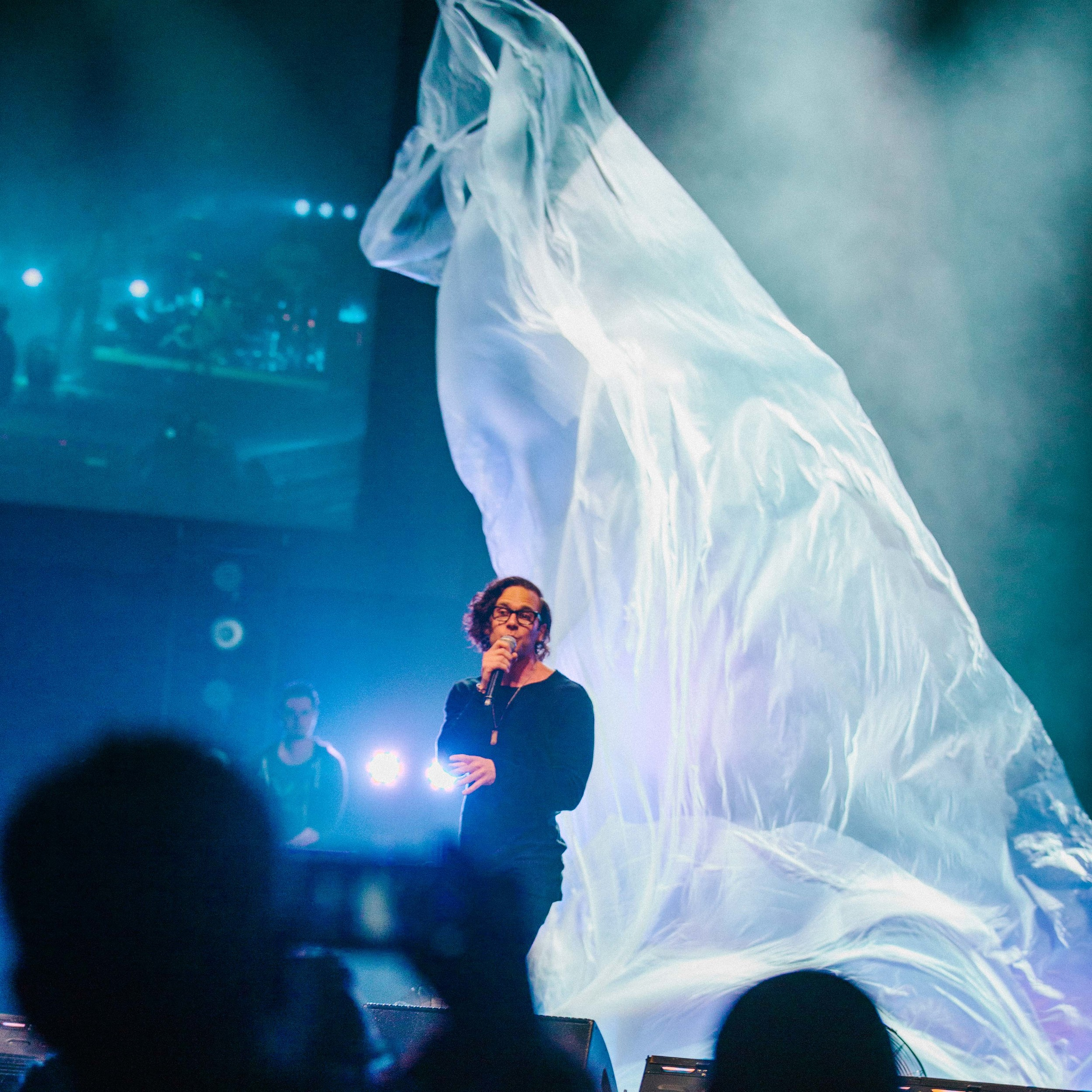 "The Catalyst Conference wanted to encourage their attendees to ""Awaken the Wonder"" so this talk was devised with a blowing, 30' piece of fabric representing the potential of our dreams."