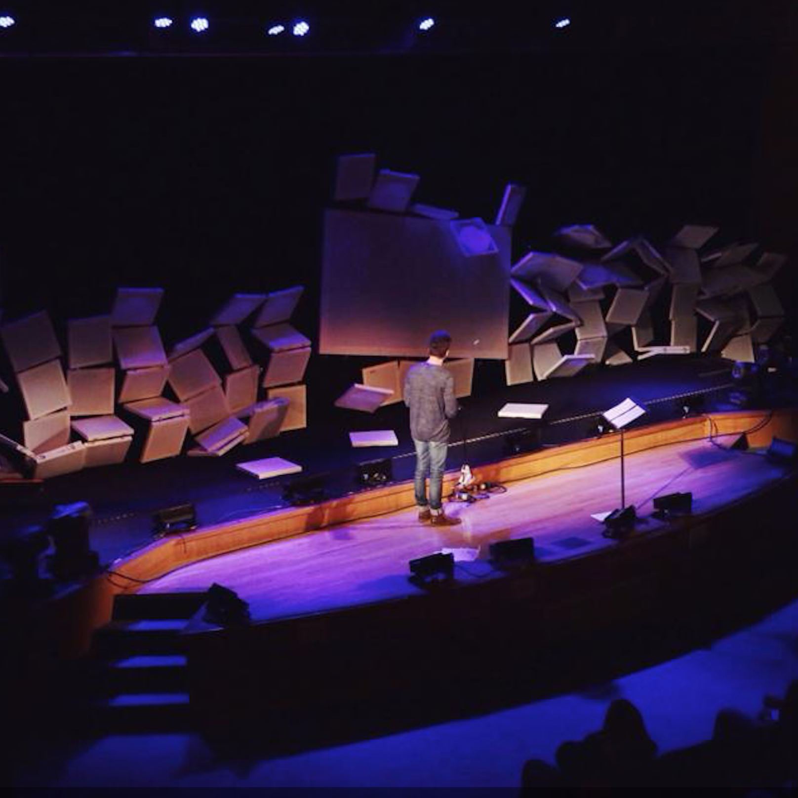 I worked with the Salt Nashville team on this talk about what to do when everything falls apart. Their team devised a system that allowed me to trigger the collapse of their entire backdrop during the talk.