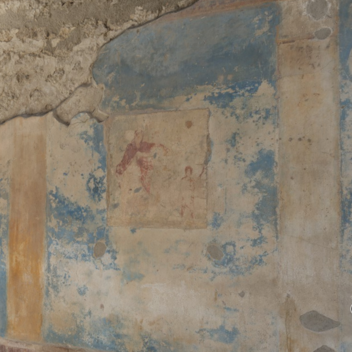 Figure 1: Screenshot of 3D model: detail of the South wall.