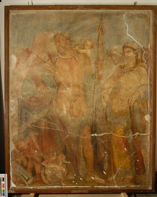 Figure 5: South wall. Photo Courtesy: Museo Archeologico Nazionale di Napoli, 8992. Accessed via the Expeditio Pompeiana Universitatis Helsingiensis.