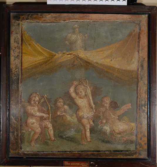 Figure 6: Small panel from Room 16. Museo Archeologico Nazionale di Napoli, 9207. Accessed via the Expeditio Pompeiana Universitatis Helsingiensis.