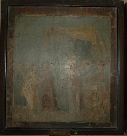 Figure 7: Small panel from Room 16. Museo Archeologico Nazionale di Napoli, 9206. Accessed via the Expeditio Pompeiana Universitatis Helsingiensis.