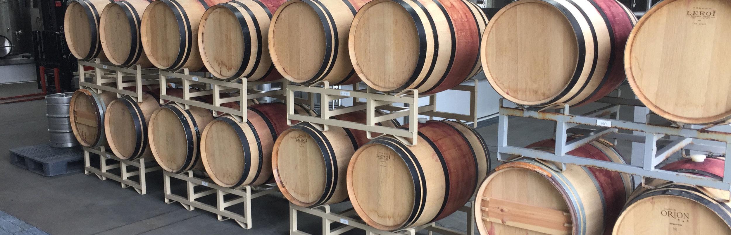 Barrels at a Winery