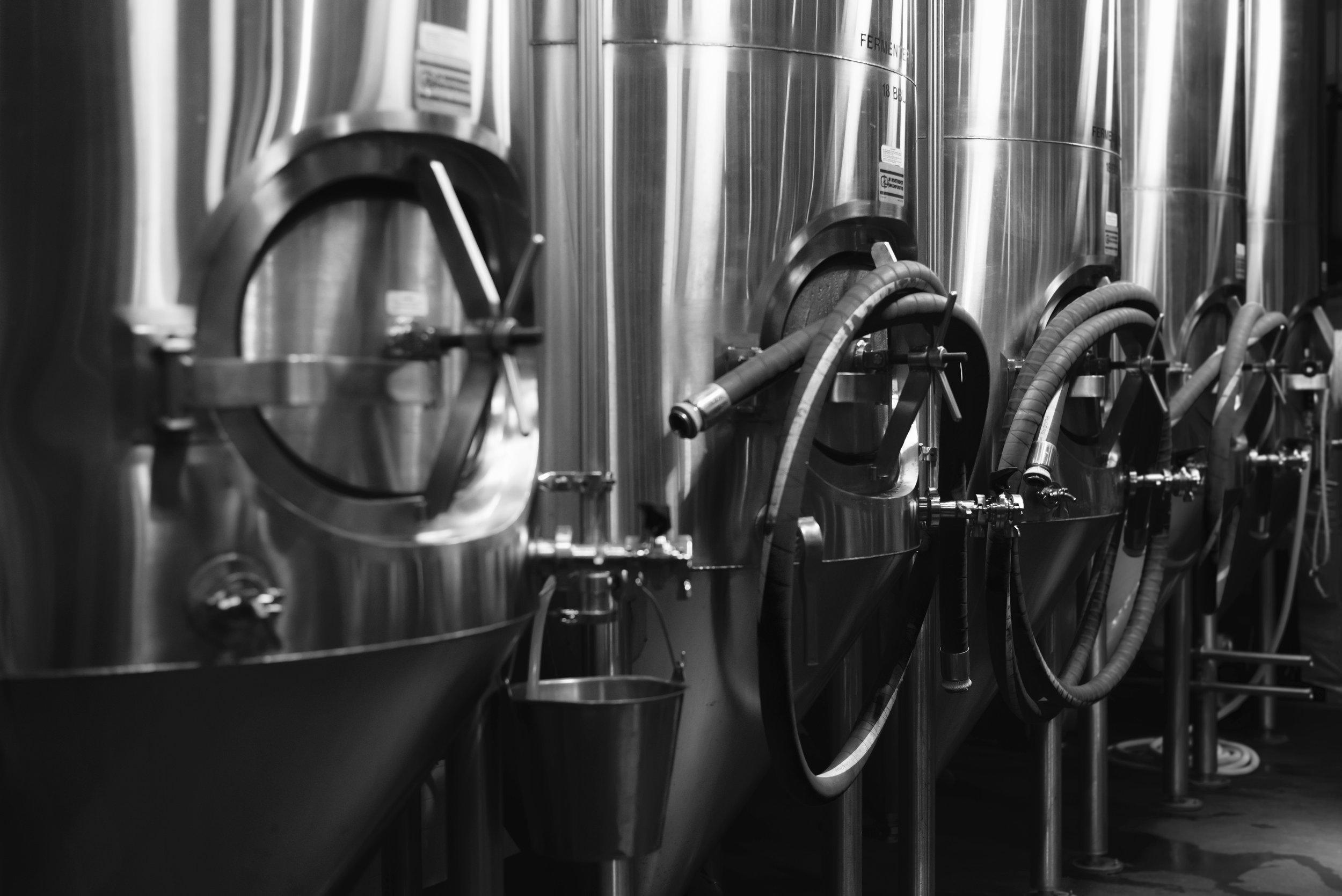 Tanks at a Brewery