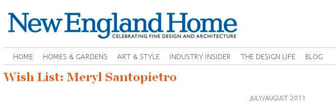 New England Home | Meryl Santopietro Wish List