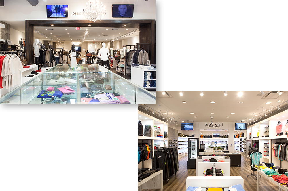 Left: Mercat store   Right: Mercat Outdoor   Both are located in Edgewater, NJ