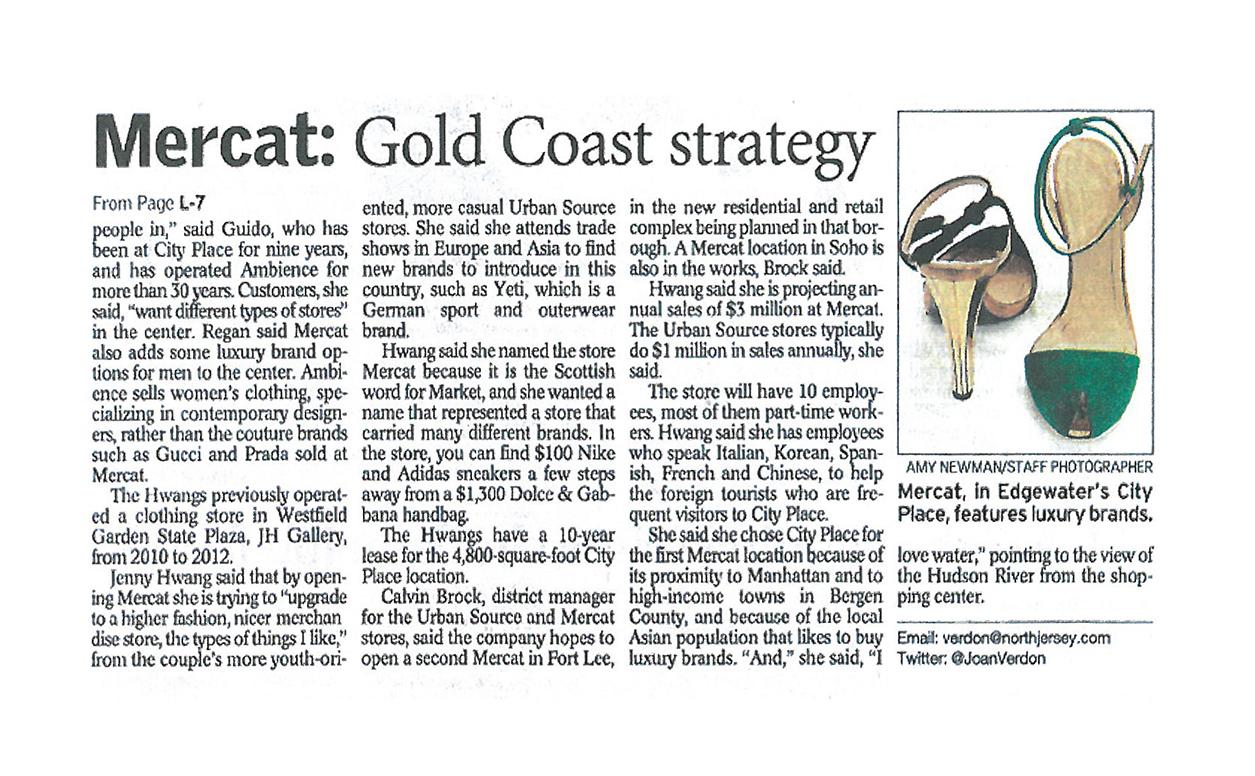 Mercat on North New Jersey Paper