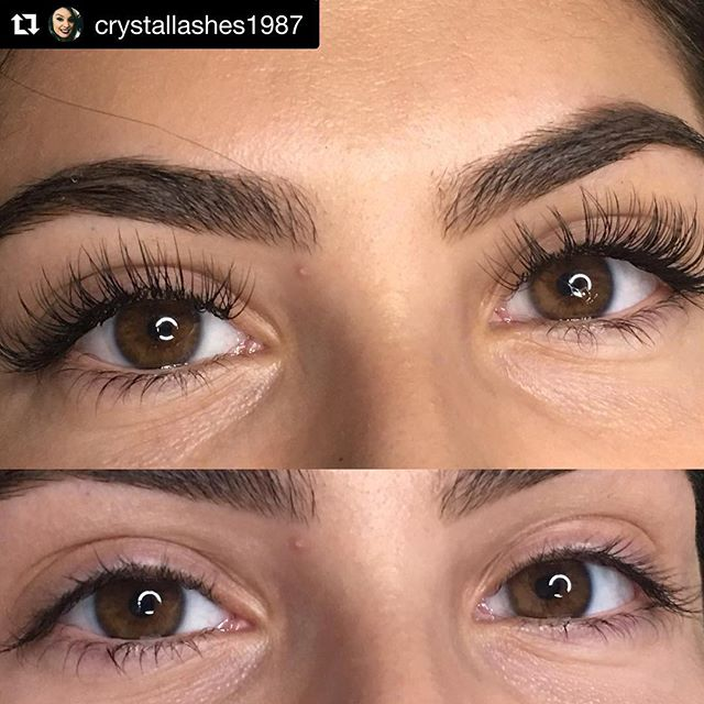 Lash extensions by @crystallashes1987 ・・・ Gave her exactly what she wanted and she was in aww😍 seriously could lashes be any more amazing? #lashextensions #lasvegaslashes #classiclashes #lasvegas #esthetician #crystallashes #lashboxla