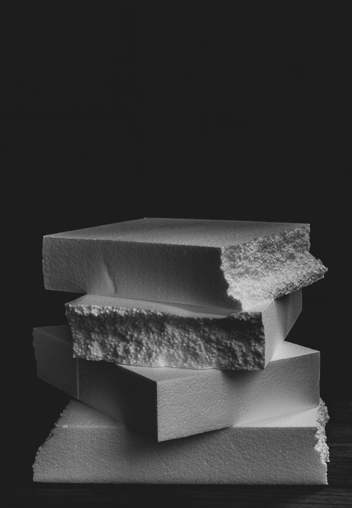 The moodiest photo of Expanded Polystyrene ever taken. You're welcome.