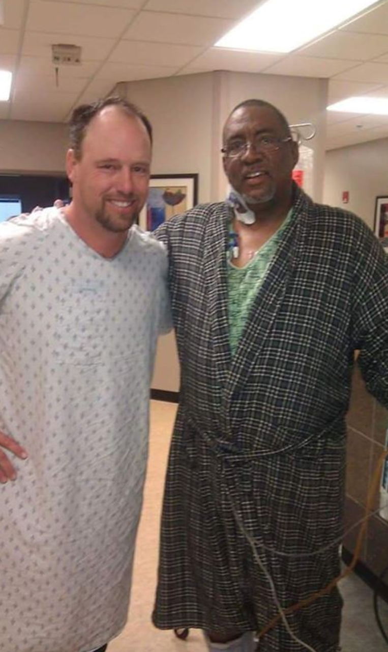 Rob and Gil after surgery