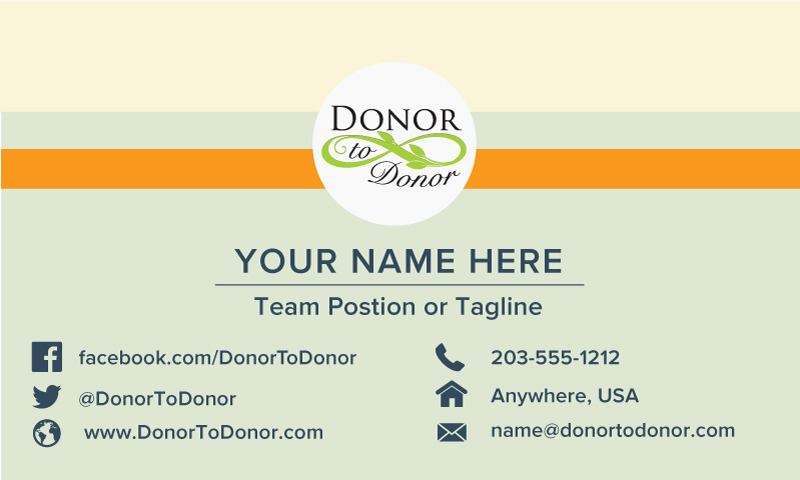 Business Cards Donor To