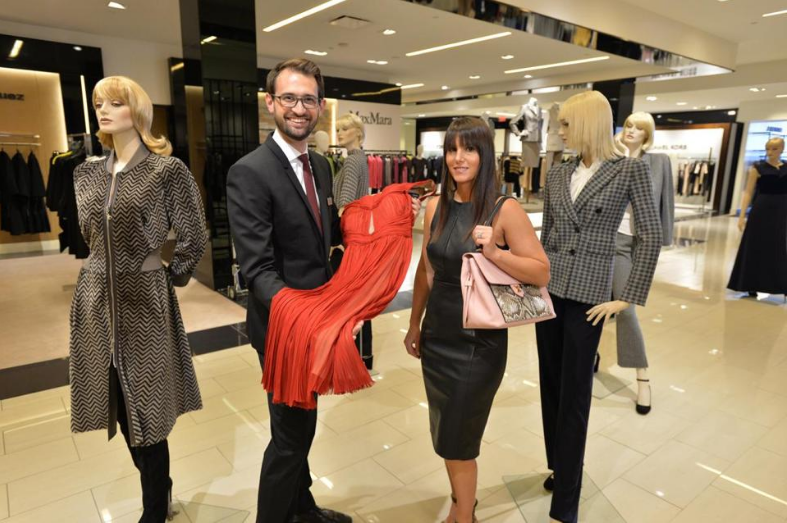 Bloomingdale's general manager Matt Dunphy with Tiffany Ortiz.