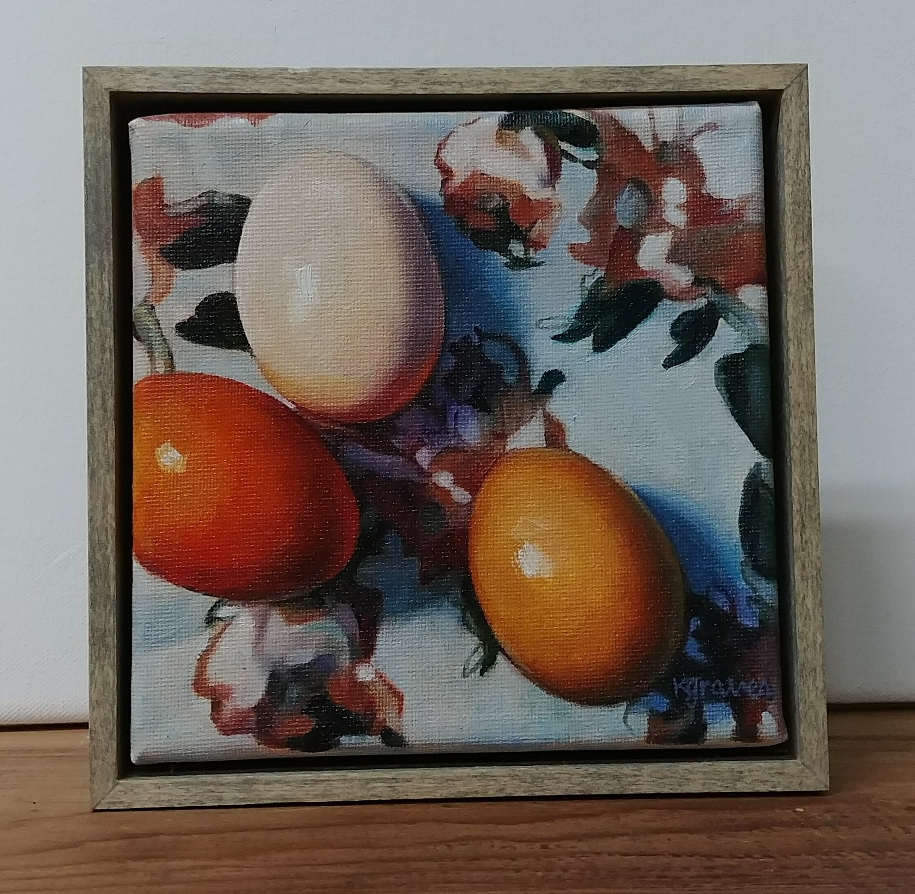 Eggs and Silk, 6x6