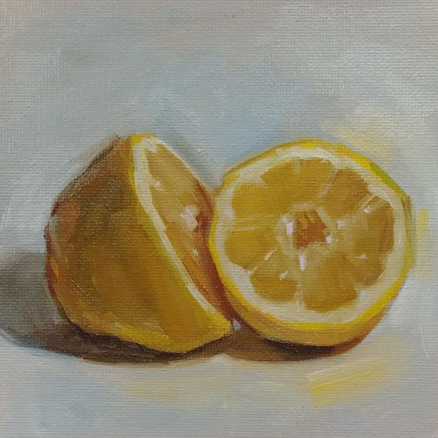 Sliced Lemon, 6x6