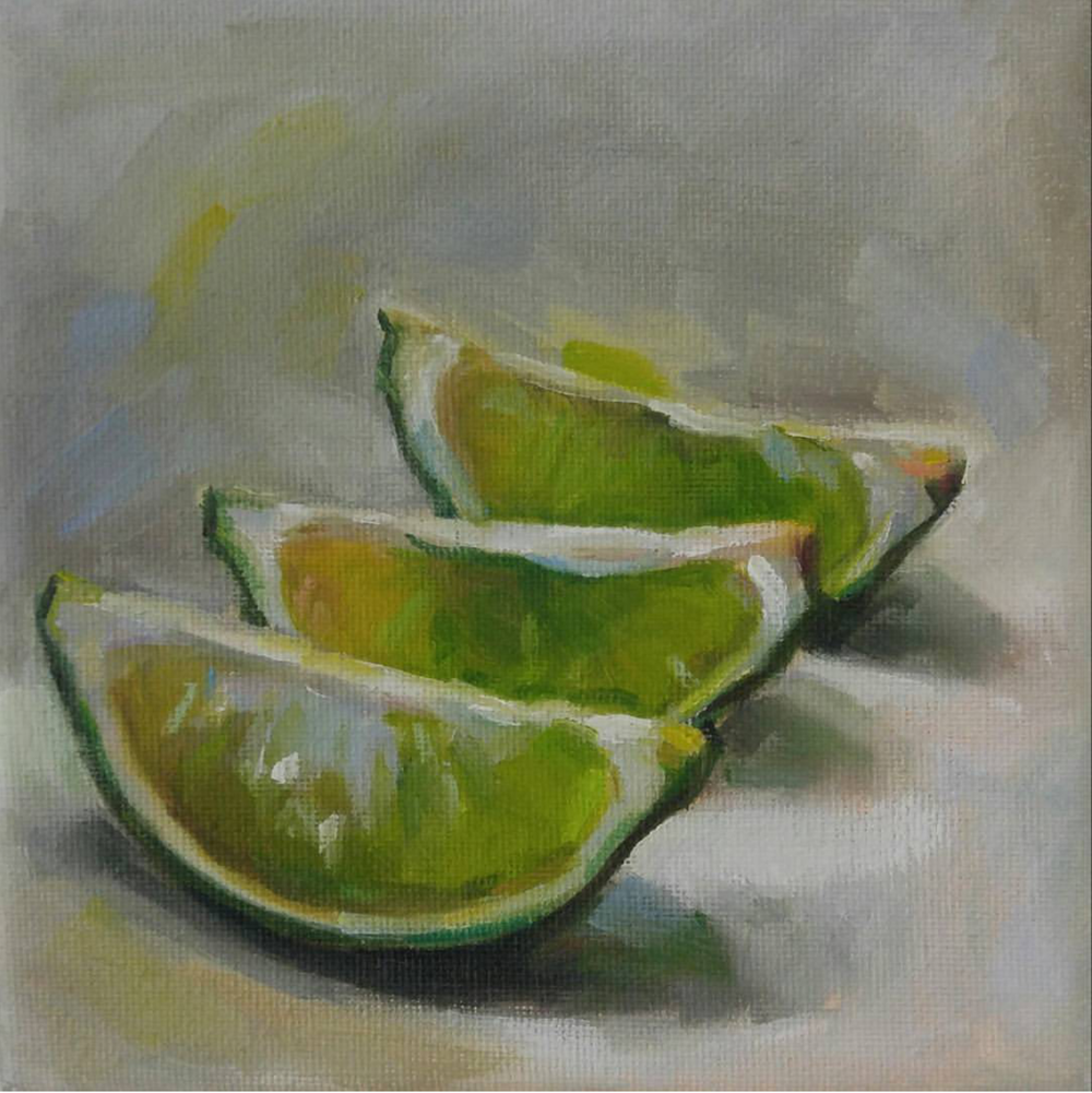 Lime Wedges, 6x6