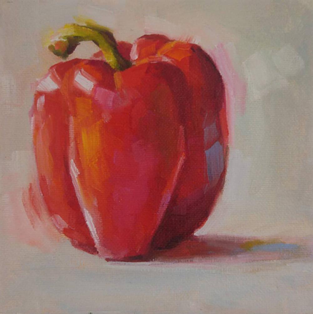 Red Pepper, 6x6