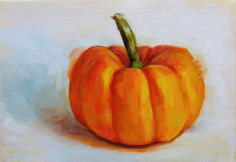 Itty Bitty Pumpkin, 5x7